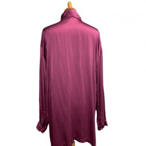 חולצת פוקסיה מכופתרת ארוכה 2