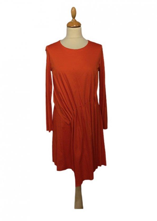 שמלה ארוכה אדומה כתומה - COS 1