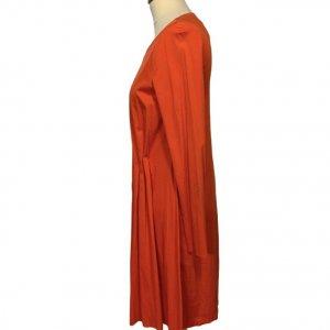 שמלה ארוכה אדומה כתומה - COS 3