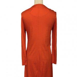 שמלה ארוכה אדומה כתומה - COS 2