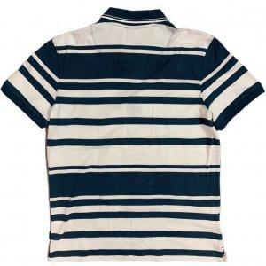 חולצת פולו פסים כחול לבן - HUGO BOSS 2