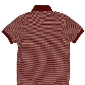 חולצת פולו אדומה פסים לבנים 2