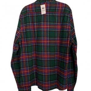 חולצה מכופתרת משבצות ירוקה פנלנל - Abercrombie & Fitch 2