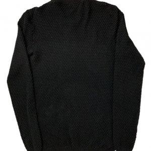 קרדיגן שחור ארוך עם ריצרץ׳ עם דוגמה של עיגולים קטנים - Anerkjendt 2