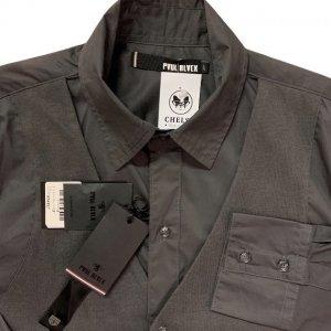 חולצה אפורה מכופתרת עם ווסט 4