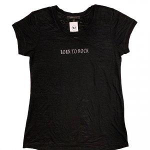 חולצה טריקו שחורה כיתוב לבן 3
