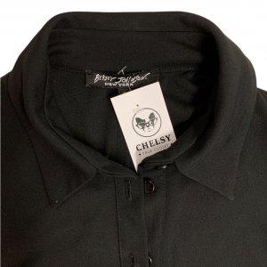 שמלה מכופתרת שחורה חגורה - Betsey Johnson 5