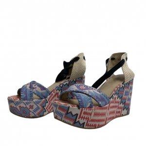 נעלי אספדריל עקב פלטפורמה עם קשירה 2