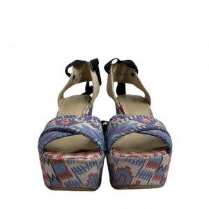 נעלי אספדריל עקב פלטפורמה עם קשירה 3