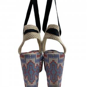 נעלי אספדריל עקב פלטפורמה עם קשירה 4