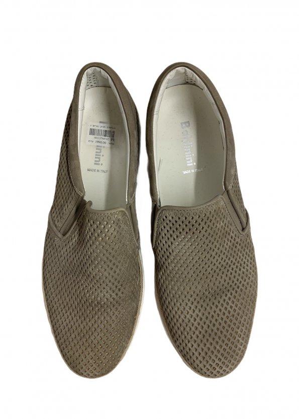קז'ואל בז' , slip-ons ,נעלי עור מבית Baldinini 1