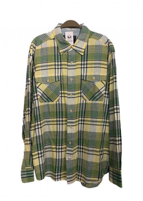 חולצה מכופתרת משבצות ירוק צהוב - Nautica 1