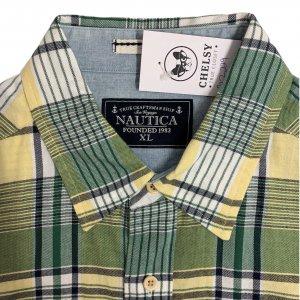 חולצה מכופתרת משבצות ירוק צהוב - Nautica 3