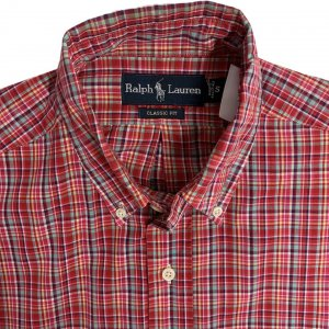 חולצה מכופתרת קצרה משבצות - Ralph Lauren 3