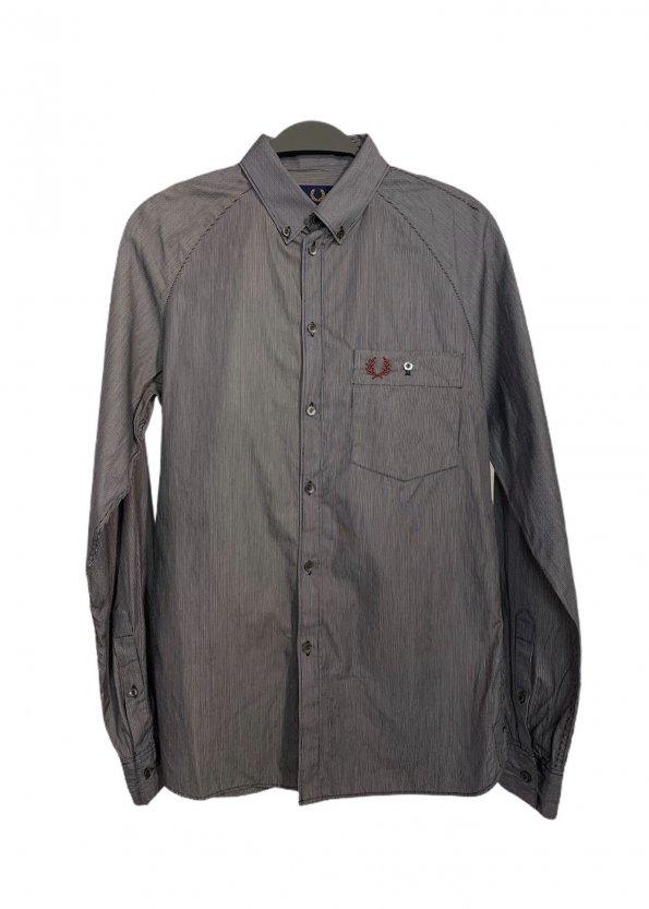 חולצה מכופתרת פסים כחול לבן - Fred Perry 1