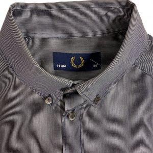 חולצה מכופתרת פסים כחול לבן - Fred Perry 3