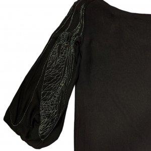 שמלת משי שחורה - Lanvin Paris 3