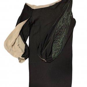 שמלת משי שחורה - Lanvin Paris 4