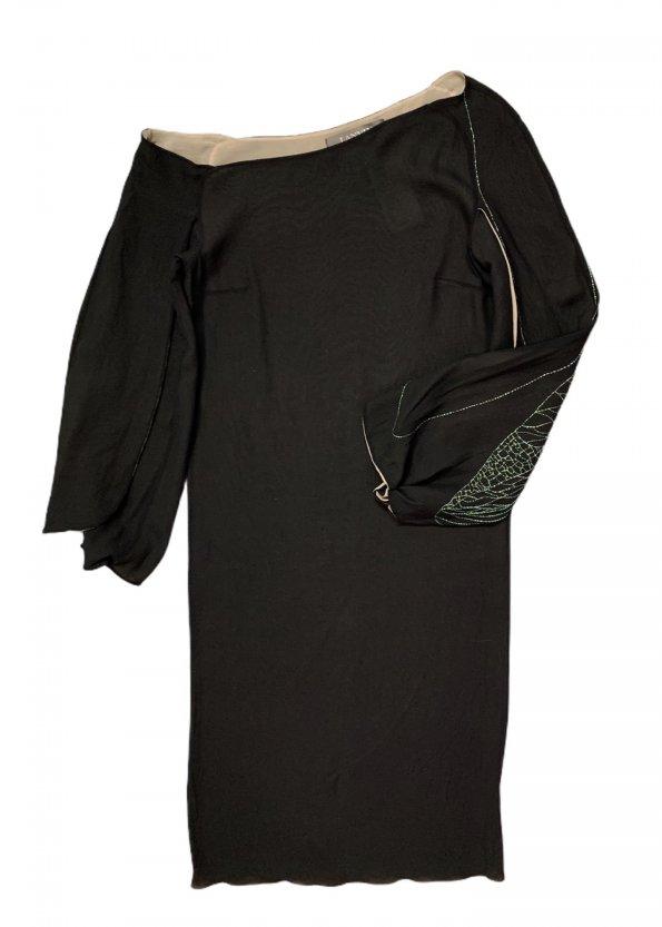 שמלת משי שחורה - Lanvin Paris 1