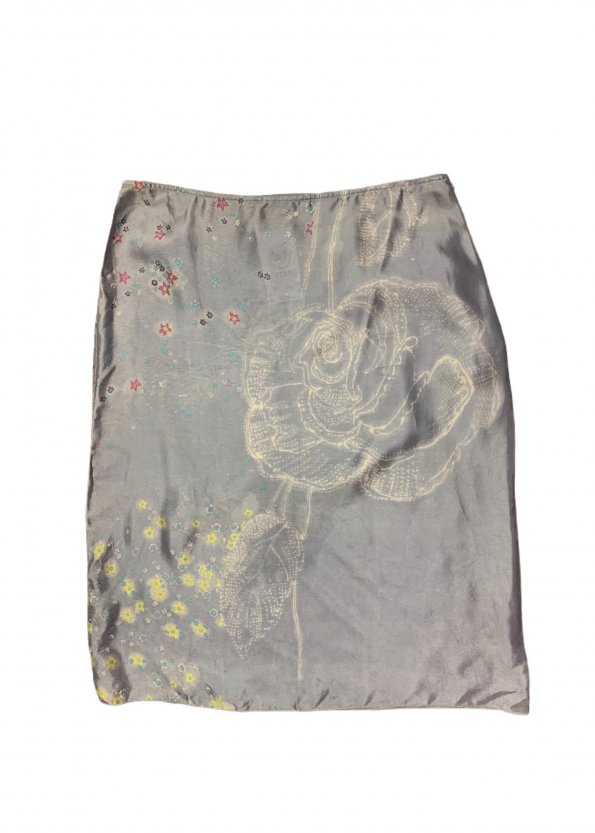 חצאית תכלת מידי - Armani 1