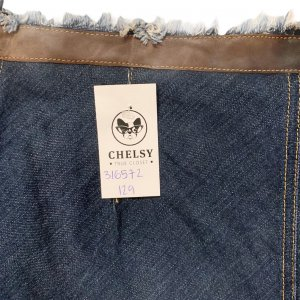 חצאית ג'ינס אסימטרית עם עור - Trussardi Jeans 4