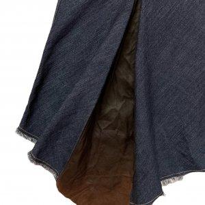 חצאית ג'ינס אסימטרית עם עור - Trussardi Jeans 3