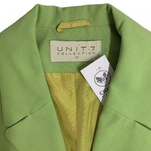 ז׳קט מחויט ירוק בהיר וינטג׳ - UNIT 7 7