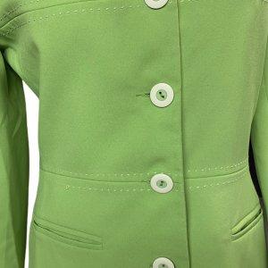 ז׳קט מחויט ירוק בהיר וינטג׳ - UNIT 7 5