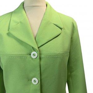 ז׳קט מחויט ירוק בהיר וינטג׳ - UNIT 7 4