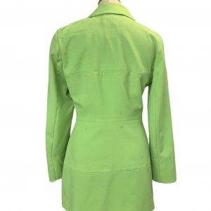 ז׳קט מחויט ירוק בהיר וינטג׳ - UNIT 7 2