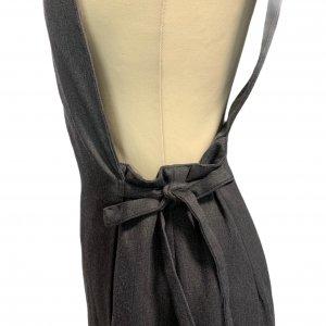 שמלת מקסי אפורה עם שרוולים קצרים ושסע בצד 4
