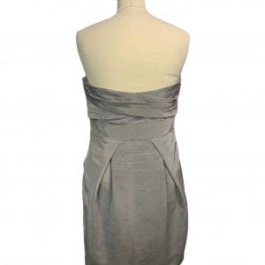 שמלת סטרפלס אפורה מבית BCBGMAXAZRIA 2