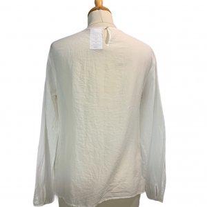 חולצת משי / כותנה עם רקמה קדמית - Massimo Dutti 2