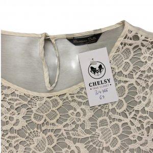חולצת משי / כותנה עם רקמה קדמית - Massimo Dutti 3