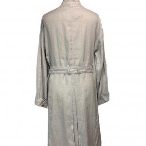 מעיל טרנץ' ארוך כפתור אפור 2