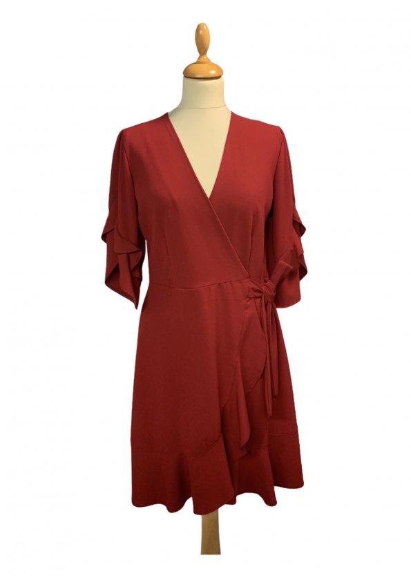 שמלת מעטפת אדומה - Lilamist 1