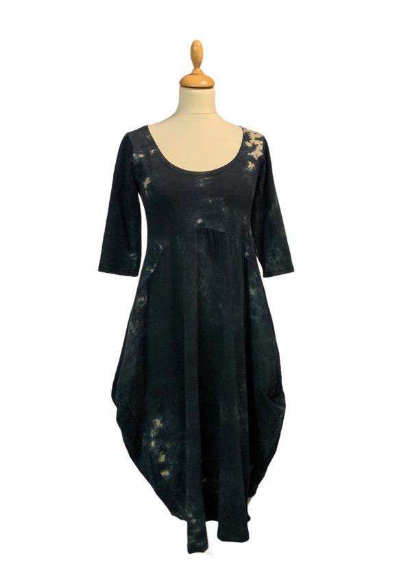 שמלת טריקו טיי דיי אפורה כיסים 1
