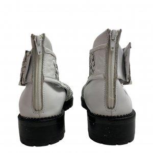 נעליים גבוהות עור לבן ארוג - Jeffrey Campbell 3