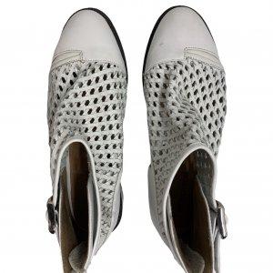 נעליים גבוהות עור לבן ארוג - Jeffrey Campbell 5