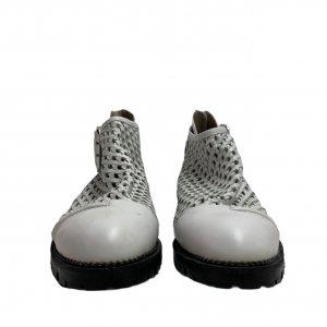 נעליים גבוהות עור לבן ארוג - Jeffrey Campbell 4
