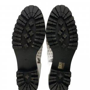 נעליים גבוהות עור לבן ארוג - Jeffrey Campbell 6