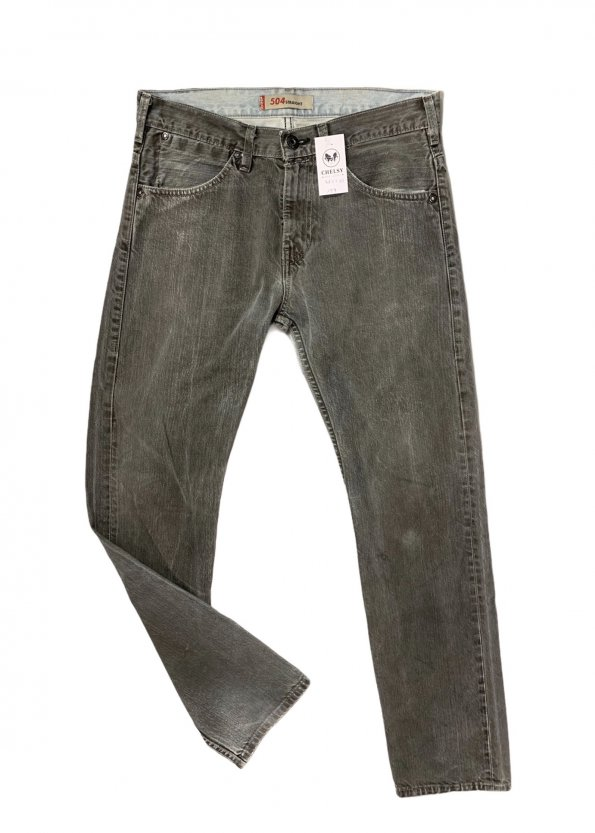 מכנס ג׳ינס ארוך אפור לגבר 1