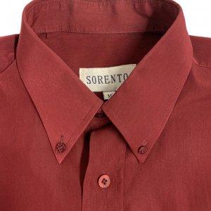 חולצת כפתורים וינטג׳ מבריקה בצבע בורדו 3
