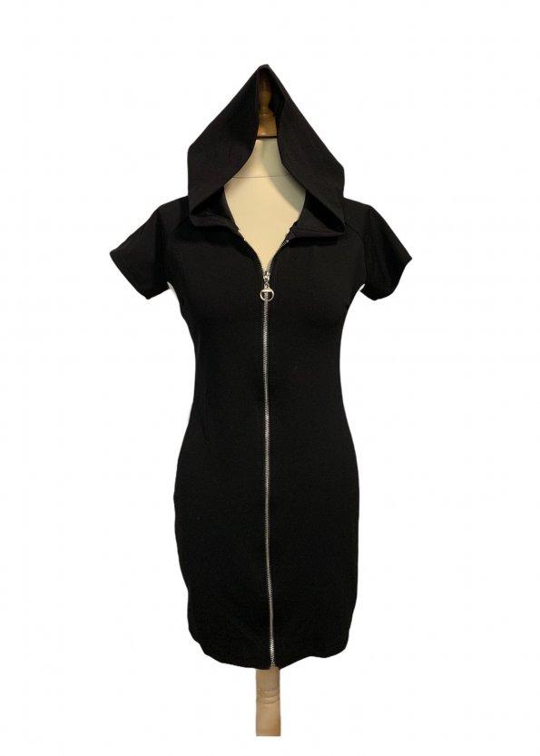 שמלה קצרה שחורה קפוצון ריצרץ 1