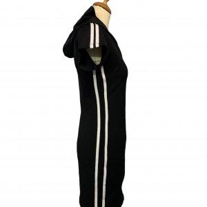 שמלה קצרה שחורה קפוצון ריצרץ 3