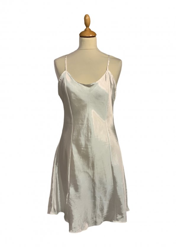 שמלת קומבניזון לבן פנינה 1