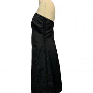 שמלת סטרפלס שחורה 3