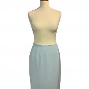חצאית קצרה תכלת שסע מאחורה - Tahari 3