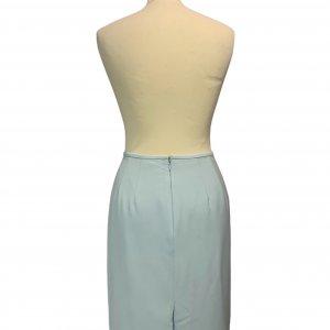 חצאית קצרה תכלת שסע מאחורה - Tahari 2