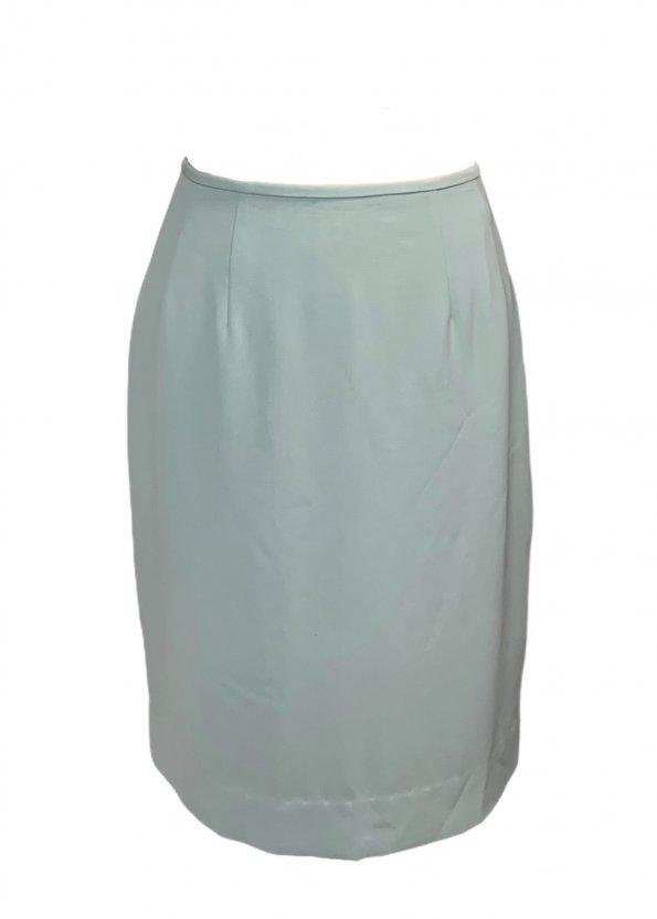 חצאית קצרה תכלת שסע מאחורה - Tahari 1